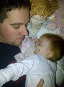 Daddy Snuggles Melt her Fears Away {Diagnosis}
